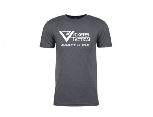 """Vickers Tactical T-Shirt """"Adapt or Die"""" - Gray"""