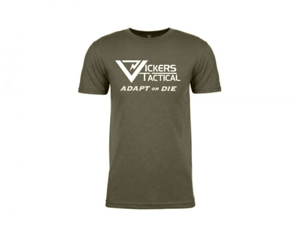 """Vickers Tactical T-Shirt """"Adapt or Die"""" - OD Green"""